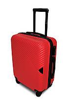 Средний пластиковый чемодан красный Fly 2702, фото 3