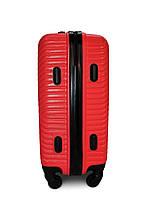 Середній пластиковий чемодан червоний Fly 2702, фото 3