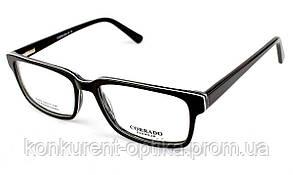 Имидживые роговые очки для мужчин в черном цвете Corrado 83645