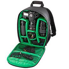 Рюкзак для фототехники AKASO Черный с зеленым (M_R_251019_11)