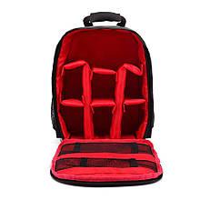 Рюкзак для фототехники AKASO Черный с красным (M_R_251019_12)