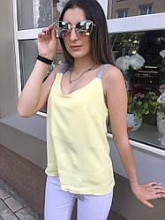 Блуза-Майка Желтая