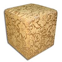 Пуфик SVL Куб, материал жаккард, бежевый 0110-01