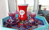 """Набір 2 лале(Армуд)+2тарілки +чай чорний """"лалє"""", фото 1"""