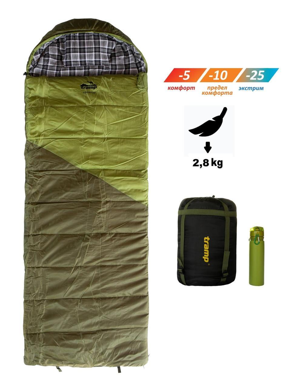 Спальный мешок Tramp Kingwood Regular TRS-053R. Туристический спальник. спальник кокон
