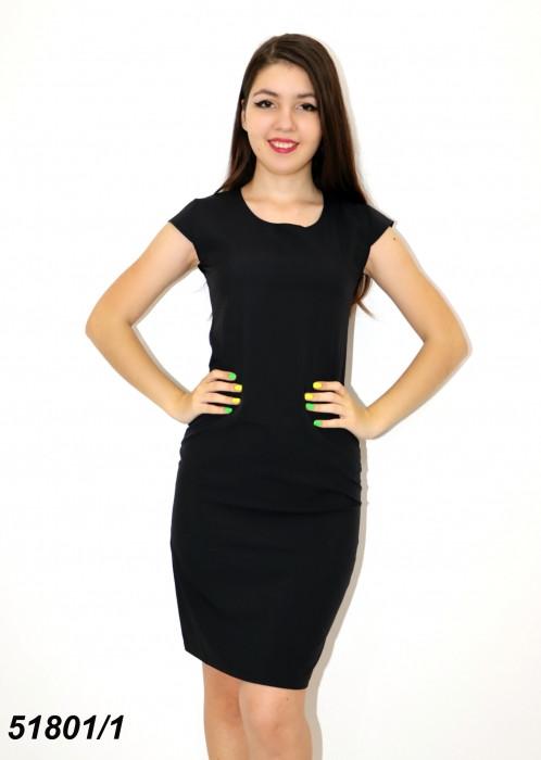 Женское классическое летнее платье чёрное 42,44,46