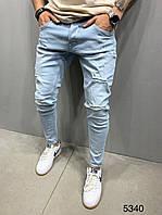 Мужские джинсы голубые 2Y Premium 5340