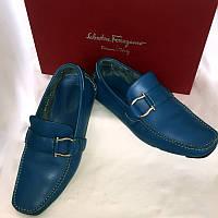Туфли мужские мокасины Ferragamo Италия оригинал, натуральная кожа, размер 41