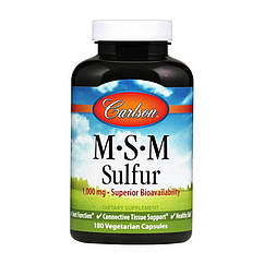 Метилсульфонилметан МСМ Carlson Labs MSM Sulfur 1000 mg (180 veg caps) карлсон лабс