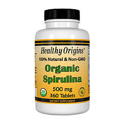 Спирулина Healthy Origins Organic Spirulina 500 mg (360  таб) хелси ориджинс