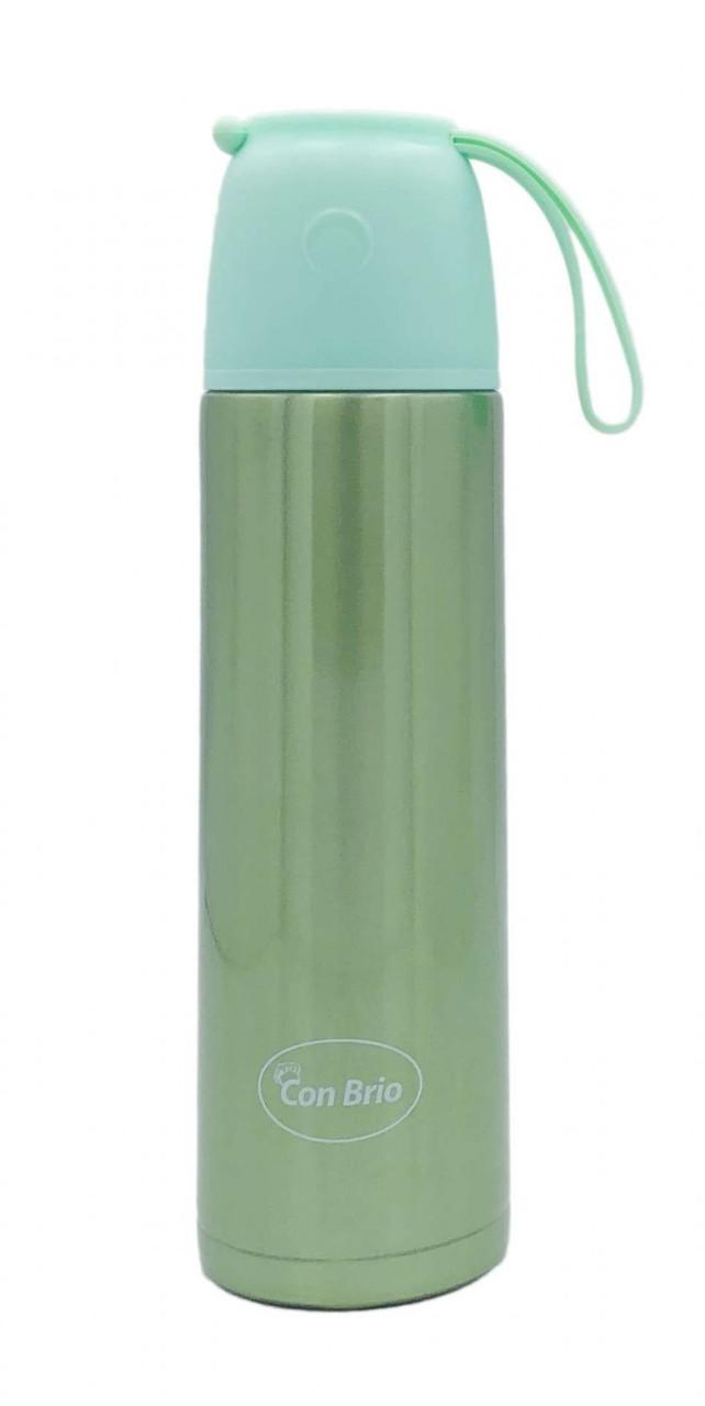 Вакуумный термос 500 мл зеленый с ремешком Con Brio CB - 377