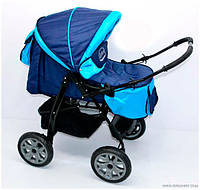 Коляска универсальная детская Viki 86 C 60 Синій (86- C 60 /темно-синий с голубым)