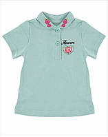 Поло - футболка для девочки р.80/86 (12/18 месяцев) мятная детская