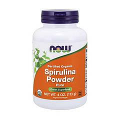 Спирулина Now Foods Spirulina Powder certified organic (113 г) нау фудс