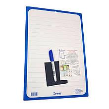 Доска для надписей, картонная, сухостираемая, А3