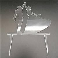 Акриловый топпер для свадебного торта, 14х14 см (арт. AK-TPR-011)