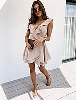 Жіноче плаття літнє ніжне з рюшами на запах (Норма), фото 3