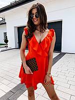 Жіноче плаття літнє ніжне з рюшами на запах (Норма), фото 6