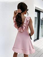 Жіноче плаття літнє ніжне з рюшами на запах (Норма), фото 7