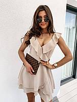 Жіноче плаття літнє ніжне з рюшами на запах (Норма), фото 8