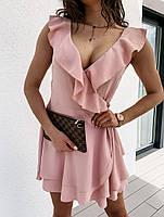 Жіноче плаття літнє ніжне з рюшами на запах (Норма), фото 10