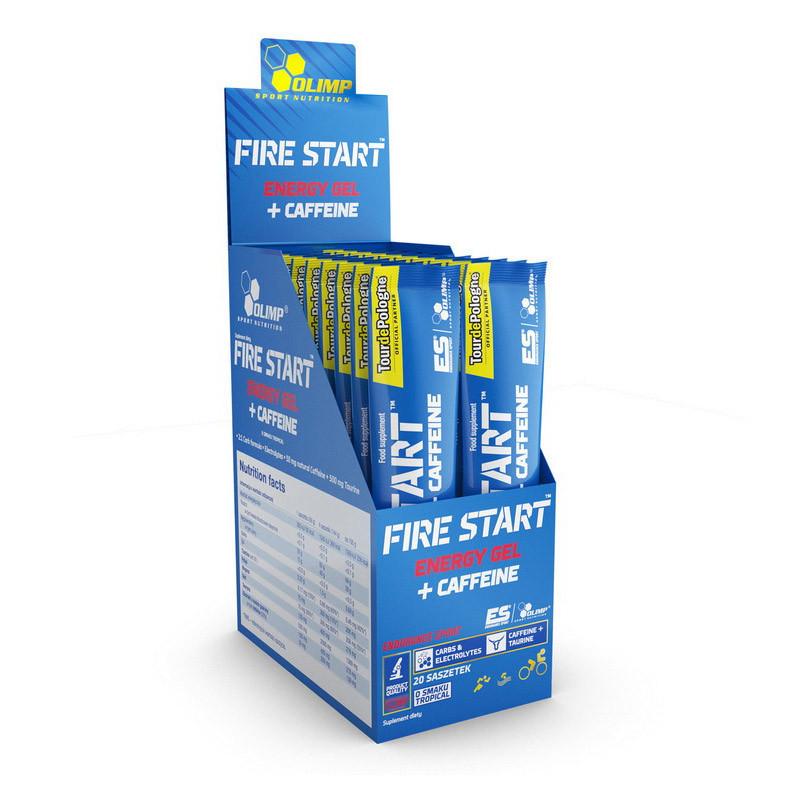 Енергетик Olimp Fire Start Energy Gel + Caffeine (36 г) олімп tropical
