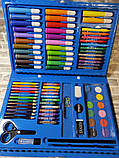 Набор для рисования 86 предметов, голубой, набор для творчества, подарок ребенку, набор художника, фото 8