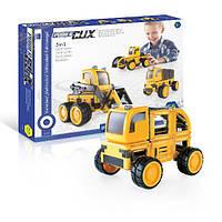 Детский конструктор Guidecraft PowerClix Строительная техника (55 деталей) Жовтий (G9460)