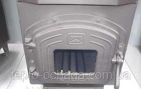 Трубная дровяная печь ТЕПЛОДАР ТОП 300 чугунная дверка со стеклом, фото 3