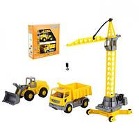 Набор детских машинок Polesie строительной техники Агат в коробке (57150)