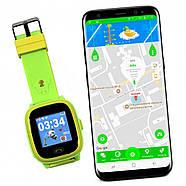 JETIX DF25 LightStrap Дитячі годинник-телефон з GPS маячком, валогазащитой IP67 + Захисне скло (Green), фото 4