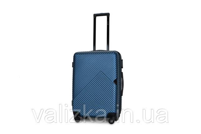 Средний пластиковый чемодан синий Fly 2702, фото 2