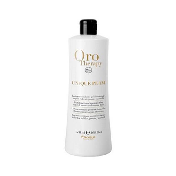 Мультифункціональне засіб для завивки волосся без аміаку Fanola Oro Therapy Unique Perm 500 мл