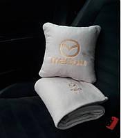 """Автомобильный плед и подушка с вышивкой логотипа """"MAZDA"""", фото 4"""