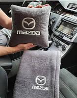 """Автомобильный плед и подушка с вышивкой логотипа """"MAZDA"""", фото 3"""