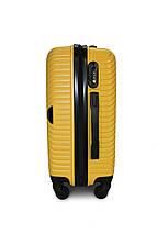 Середній пластиковий чемодан жовтий Fly 2702, фото 3
