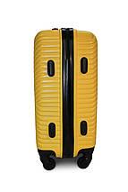 Середній пластиковий чемодан жовтий Fly 2702, фото 2