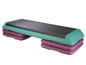 Степ-платформа LiveUp Aerobic step Grey (LS3168E-p)