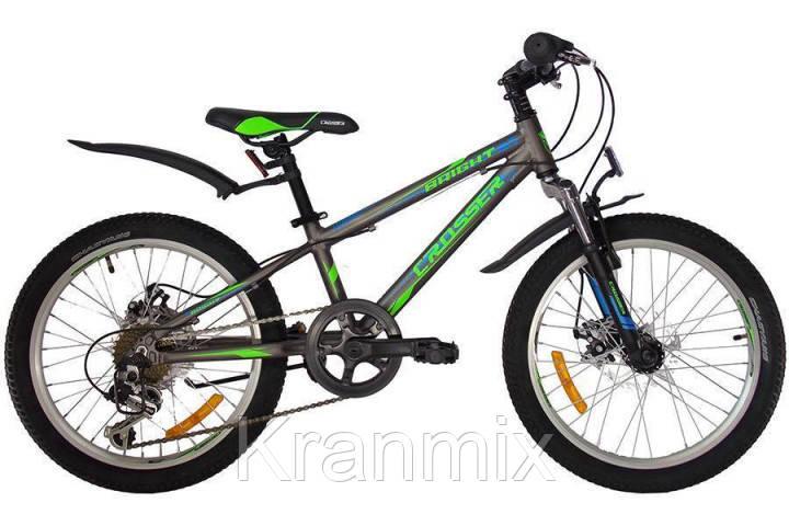Спортивный горный велосипед Crosser Bright 20 дюймов СЕРЫЙ