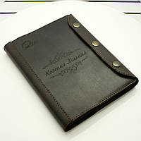 Кожаный блокнот M. Ежедневник с кожаной обложкой А5. Лазерная гравировка изображений, фото 1