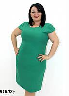 Женское лёгкое летнее платье светло-зелёное 58,60,62,64