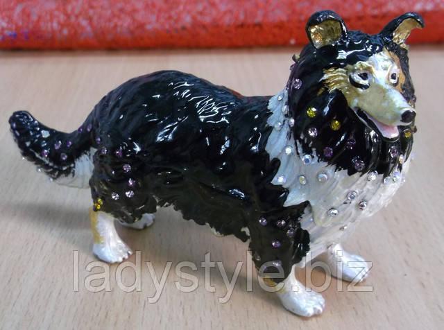 статуэтка шкатулка коллекционная фигурка щенок собачка купить подарок