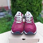 Мужские замшевые кроссовки New Balance 574 (бордовые) 10203, фото 3