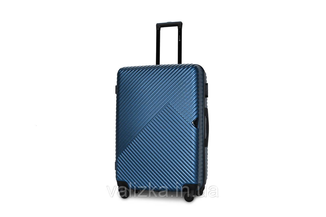 Великий пластиковий чемодан морська хвиля Fly 2702
