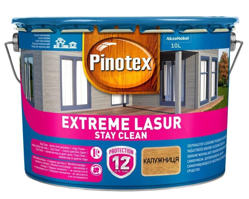 Лазурь-лак антисептический PINOTEX EXTREME LASUR для древесины полуглянцевый калужница 10л