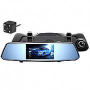 Зеркало видеорегистратор с камерой заднего вида и сенсорным управлением X10  DVR Full HD