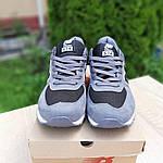 Мужские замшевые кроссовки New Balance 574 (серо-черные) 10205, фото 3