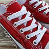 Кеди дитячі червоні конверси на змійці шнурках кросівки в стилі converse червоні дитячі кросівки кеді, фото 4