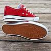 Кеди дитячі червоні конверси на змійці шнурках кросівки в стилі converse червоні дитячі кросівки кеді, фото 5