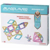 Конструктор Magplayer магнитный набор 62 эл (MPH2-62)